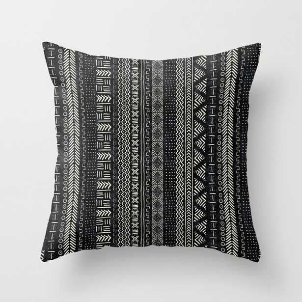 """Mud Cloth Stripe Throw Pillow - Outdoor Cover (16"""" x 16"""") with pillow insert by Beckybailey1 - Society6"""