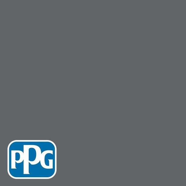 PPG Diamond 1 gal. #HDGCN39D Dark Grey Silk Semi-Gloss Interior Paint with Primer - Home Depot