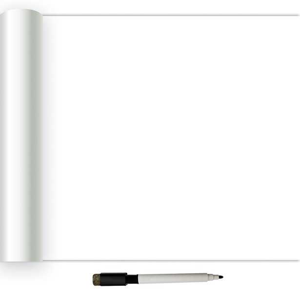 30.75 sq. ft. Dry Erase Peel and Stick Wallpaper, White & Off-White - Home Depot