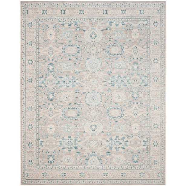Archive Grey/Blue 7' x 9'. Area Rug, Gray/Blue - Home Depot
