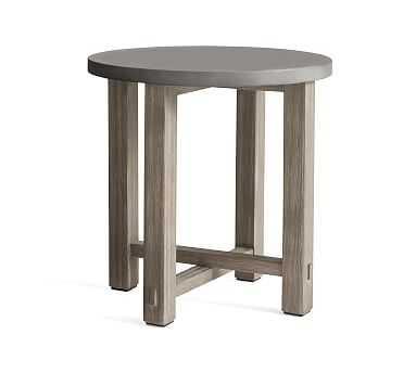 Abbott Side Table, Gray Wash - Pottery Barn