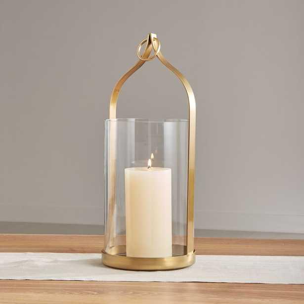 "Priya 20"" Brass Lantern - Crate and Barrel"