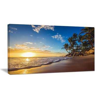 'Paradise Tropical Island Beach Sunrise' Photographic Print on Wrapped Canvas - Wayfair