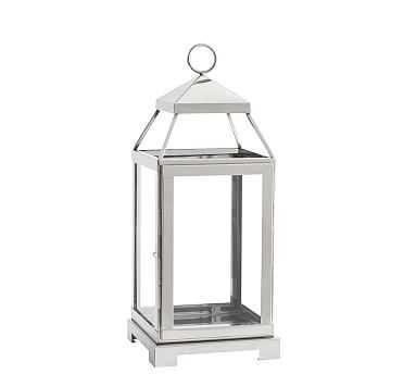 Malta Lantern - Silver Finish, Medium - Pottery Barn