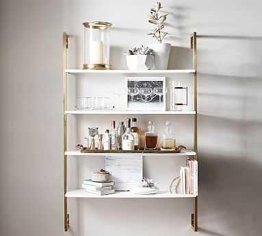 Olivia Wall Mounted Shelves, Brass - Pottery Barn