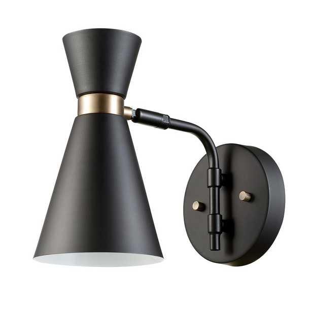 Globe Electric Belmont 1-Light Black Sconce - Home Depot