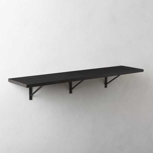 "Black Marble Wall Mounted Shelf 36"" - CB2"