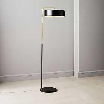 Library Floor Lamp, Dark Bronze, Antique Brass - West Elm
