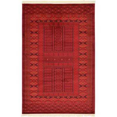 Ivette Southwestern Red/Black/Orange Area Rug - AllModern