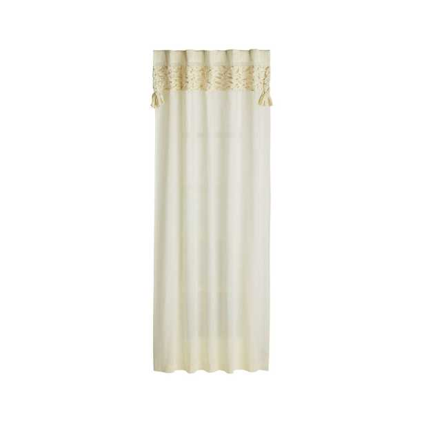 """Fringe Natural 63"""" Curtain - Crate and Barrel"""