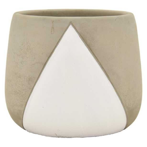 THREE HANDS 6 in. Planter in White - Home Depot