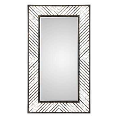Chevron Framed Accent Mirror - Wayfair