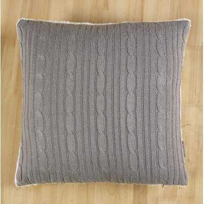 Autaugaville Cozy Cable Knit Throw Pillow Cover - Wayfair