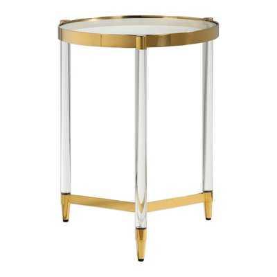 Sudie Glass End Table - Wayfair
