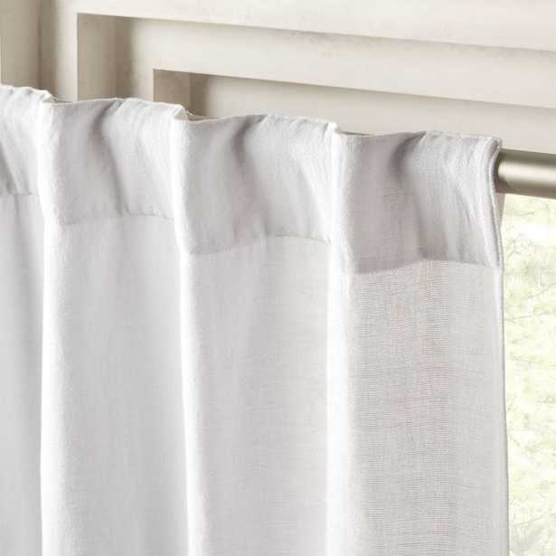 """Weekender White Chambray Curtain Panel 48""""x96"""" - CB2"""