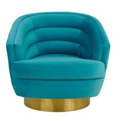 Pigott Cream Velvet Swivel Chair - Wayfair