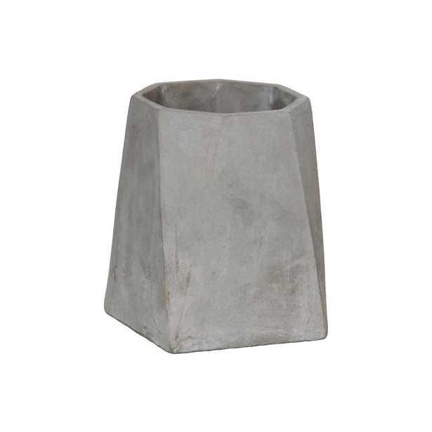 Gray Concrete Cement Decorative Vase - Home Depot