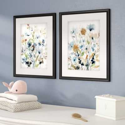 'Holland Spring Mix' 2 Piece Framed Acrylic Painting Print Set - Wayfair