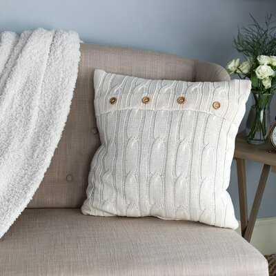 Congdon Cable Knit Toss Cotton Throw Pillow - Wayfair