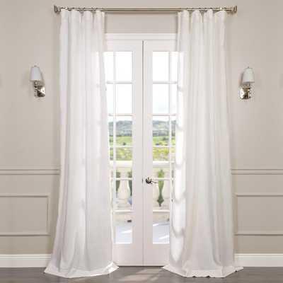 Pyrogi Linen Sheer Rod Pocket Single Curtain Panel - Birch Lane