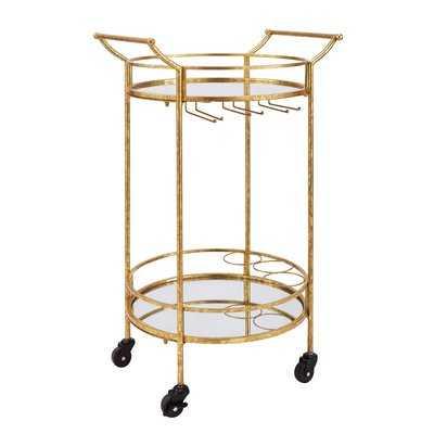 Round Metal Bar Cart - Wayfair