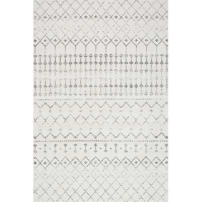 Clair Geometric Gray Area Rug - 8' x 10' - Wayfair