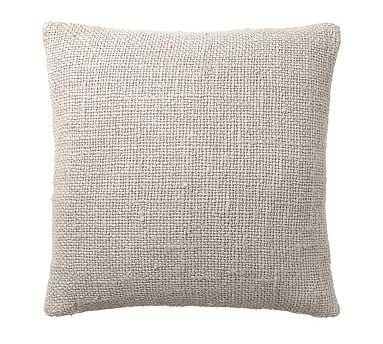 """Faye Textured Linen Pillow Cover, 20"""", Flax - Pottery Barn"""