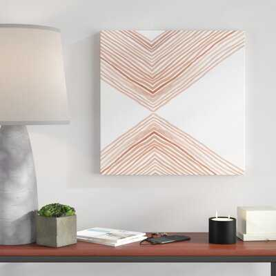 'Pink Apogee I' Painting on Canvas - AllModern