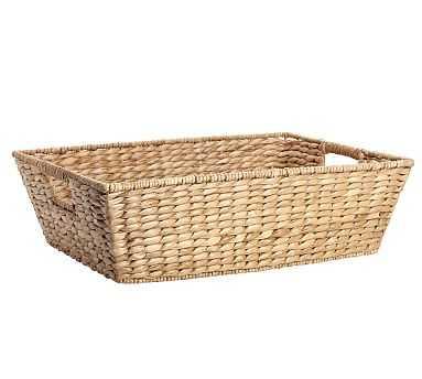 "Savannah Underbed Basket, Large (24"" x 17"") - Pottery Barn"