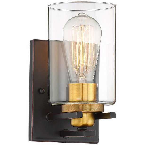 """Possini Euro Demy 8 3/4"""" High Bronze and Gold Wall Sconce - Style # 65M55 - Lamps Plus"""