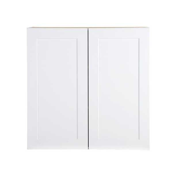 Cambridge Assembled 30x30x12.5 in. All Plywood Wall Cabinet in White - Home Depot