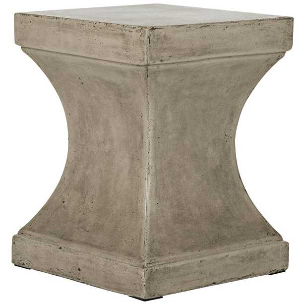 Curby Dark Gray Concrete Indoor-Outdoor Accent Table - Style # 35X56 - Lamps Plus