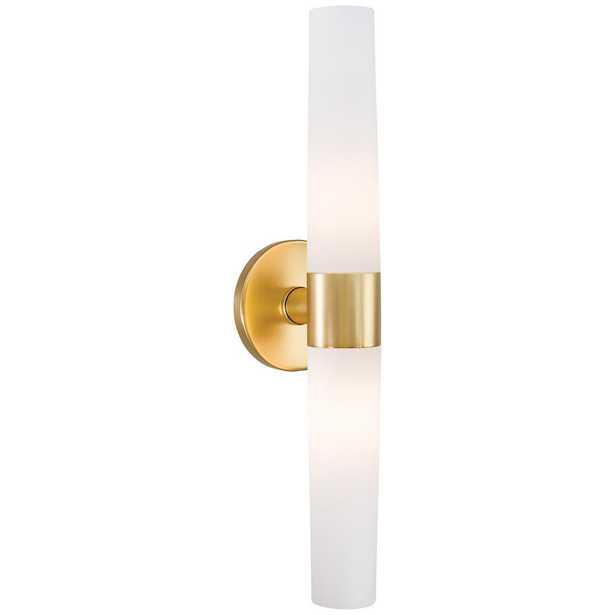 George Kovacs Saber 2-Light Honey Gold Wall Sconce - Home Depot