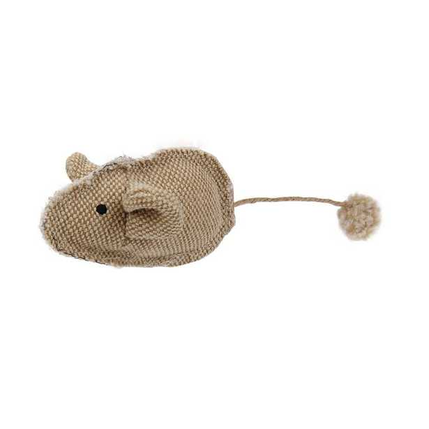 Brown Pompom Kitty Mouse Plush Catnip Cat Toy - Home Depot