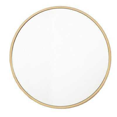 Zaid Circle Modern Accent Mirror - Wayfair