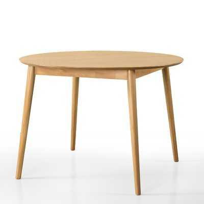 Beech Mid Century Wood Solid Wood Dining Table - Wayfair