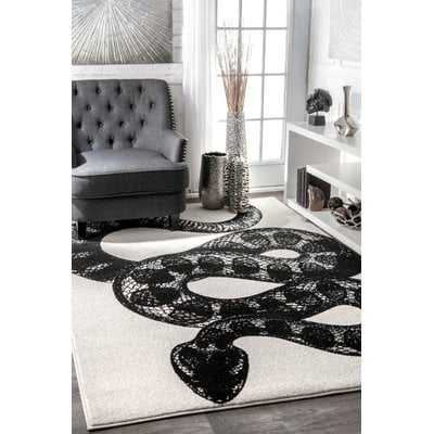 Black/White Area Rug - Wayfair