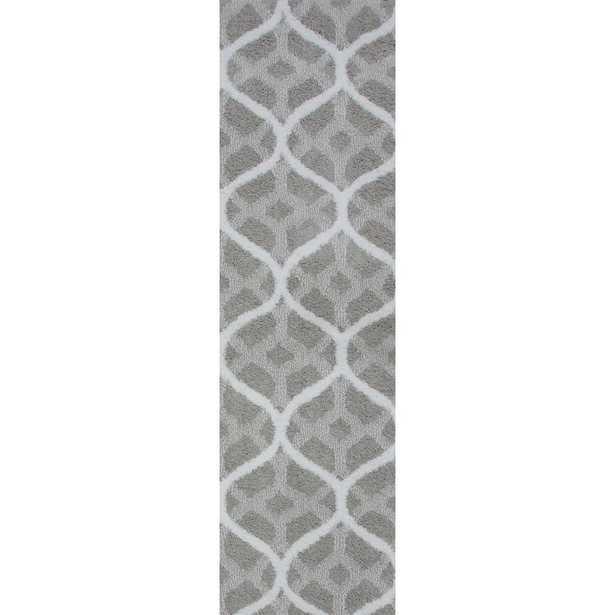 Remus Silver Grey 2 ft. x 5 ft. Runner Rug - Home Depot