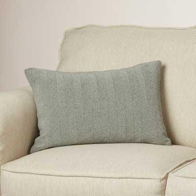 Bungalow Rose Goggins Cotton Lumbar Pillow in Gray - Wayfair