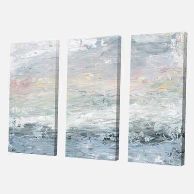 'Gray Abstract Watercolor II' Painting Multi-Piece Image on Wrapped Canvas - Wayfair
