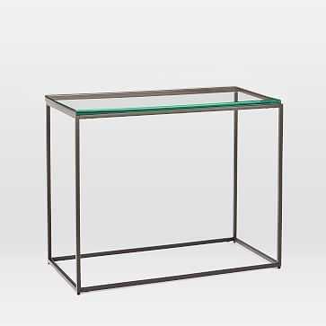 Streamline Side Table, Glass, Antique Bronze - West Elm