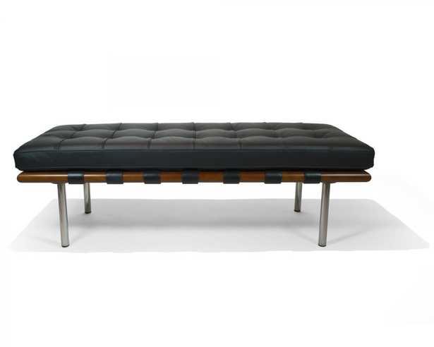 "Rove Pavilion Bench - 52"""" Modena Black Ebony - Rove Concepts"
