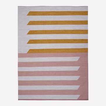 Spliced Stripe Rug, Golden Oak, 8'x10' - West Elm