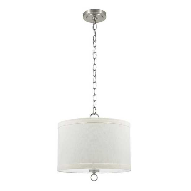 13.25 in. Lighting White Drum Pendant with Cresswell Bulb - Home Depot