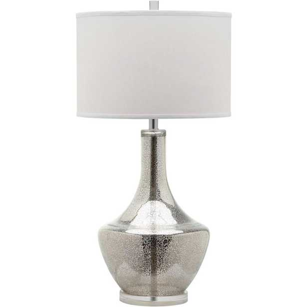 Safavieh Mercury 33 in. Silver Table Lamp - Home Depot
