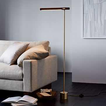 Linear Wood LED Floor Lamp - West Elm
