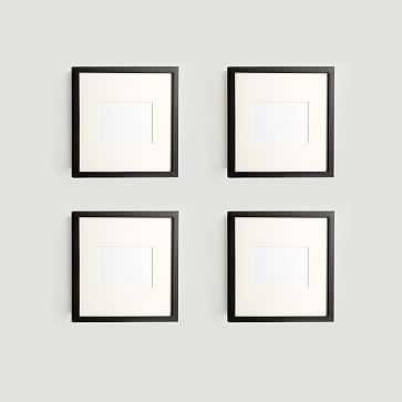 "Gallery Frames, Set of 4, 13""x13"", Black Lacquer - West Elm"