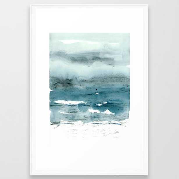 dissolving blues Framed Art Print by Patternization - Society6