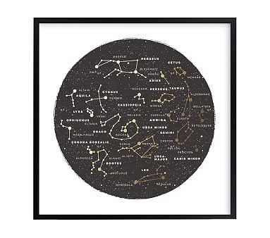Constellation Map, Wall Art by Minted(R), 8x8, Black - Pottery Barn Kids