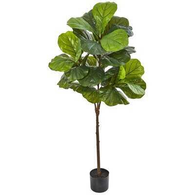 "49"" Artificial Fiddle Leaf Fig Tree in Pot - Wayfair"